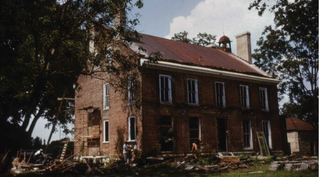 Exterior During the 1963 Restoration
