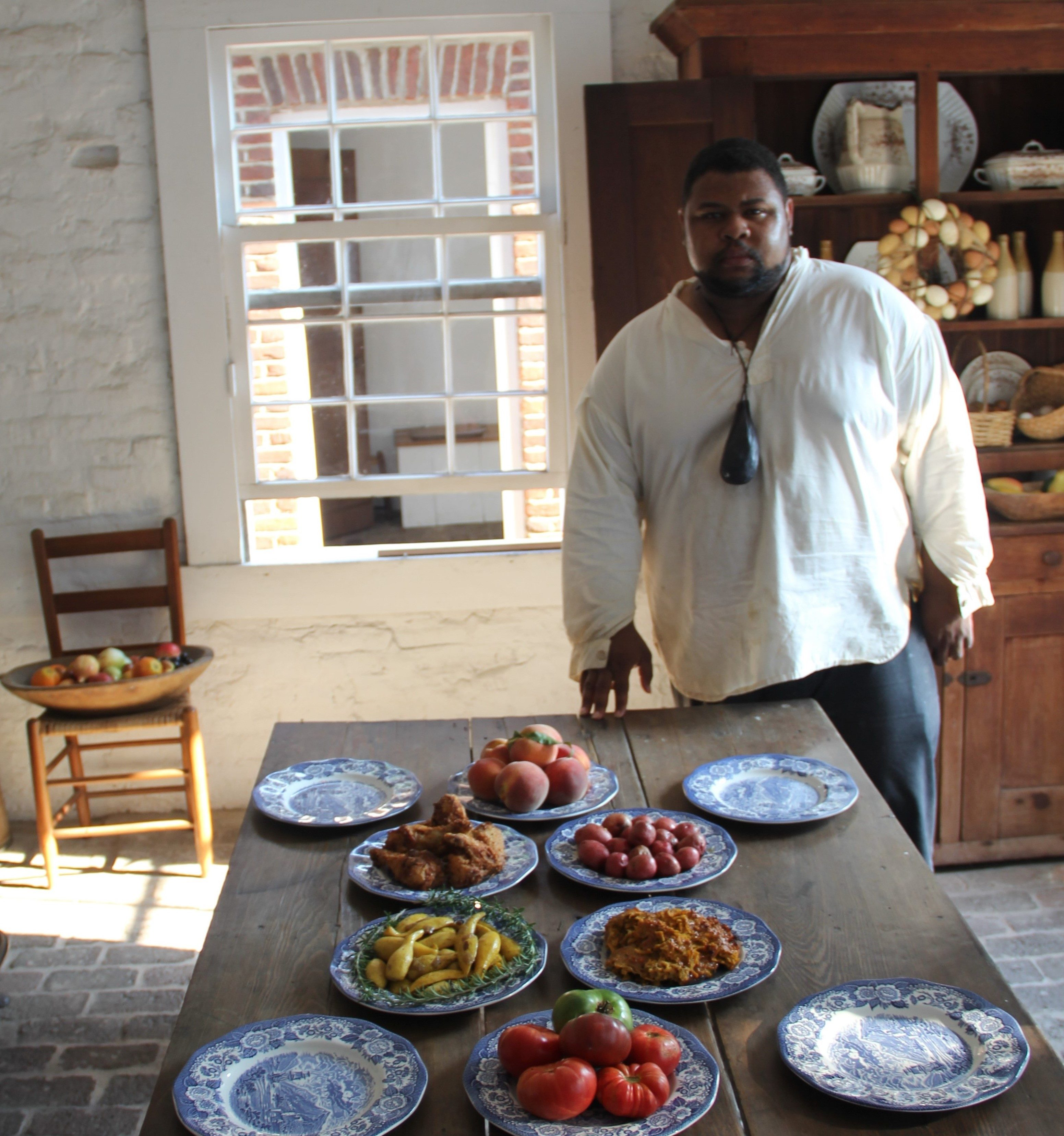Michael Twitty in the kitchen