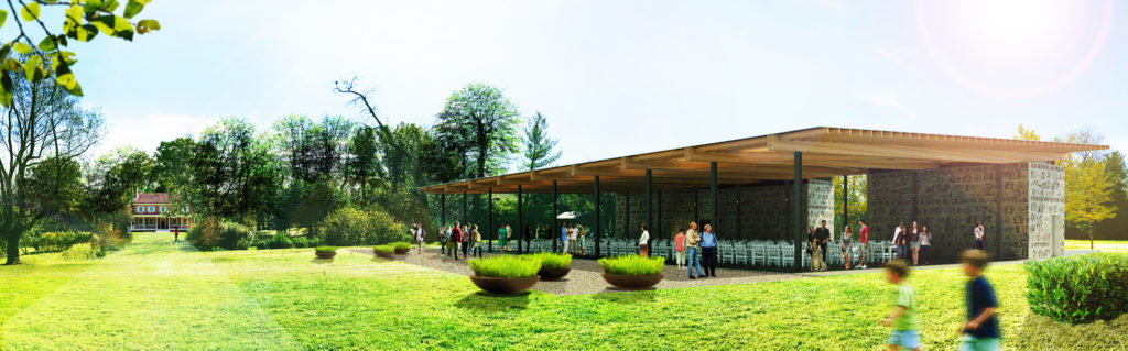 Rendering of pavilion at Locust Grove