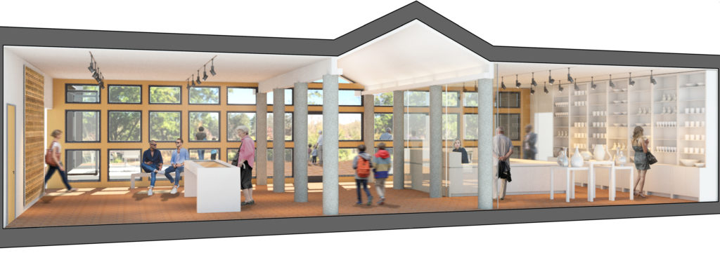 New Gift Shop rendering in visitors' center at Locust Grove